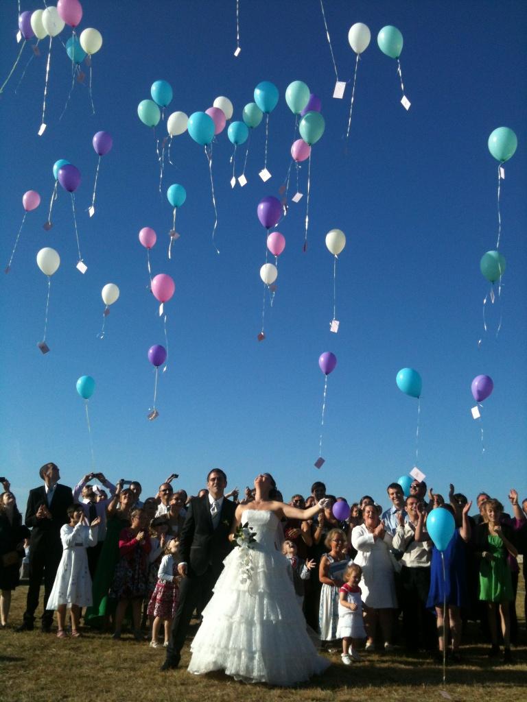 lacher de ballon mariage - Lacher De Ballons Mariage